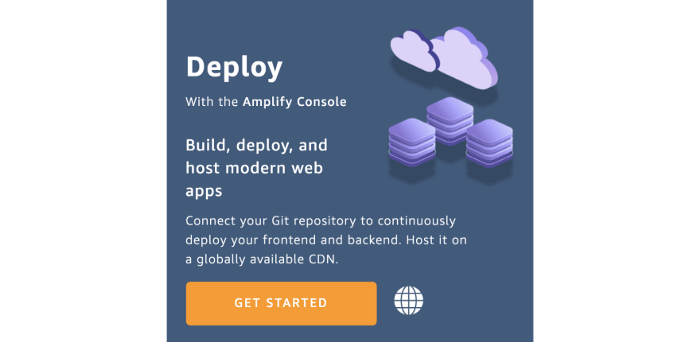 AWS domain hosting with the Amplify Console.