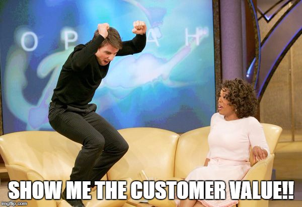 The first step with any big project is to keep calm and figure out if there is any actual customer value.